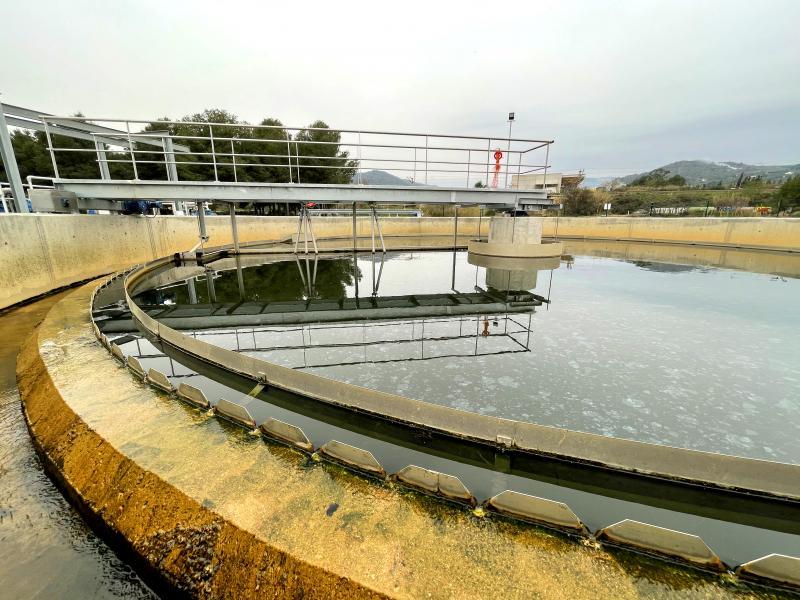 Sewage station in La Selva del Camp