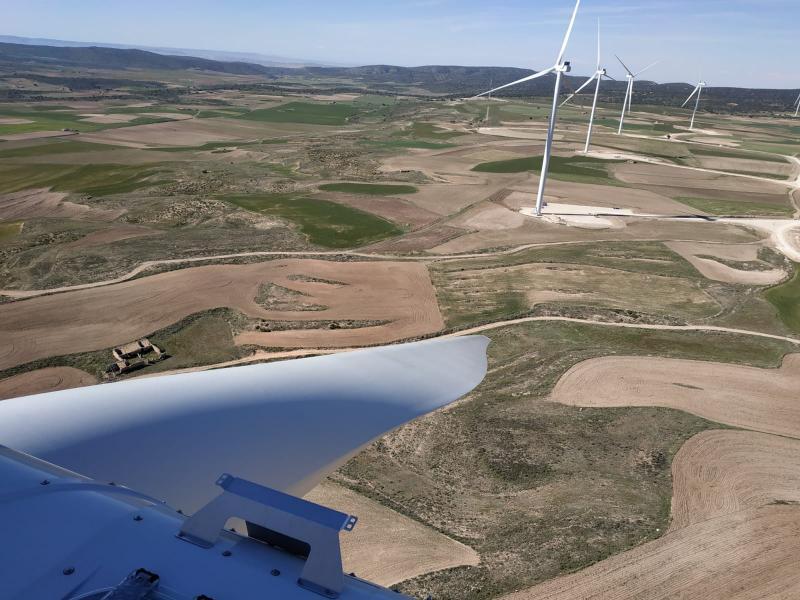 Wind farms in Teruel