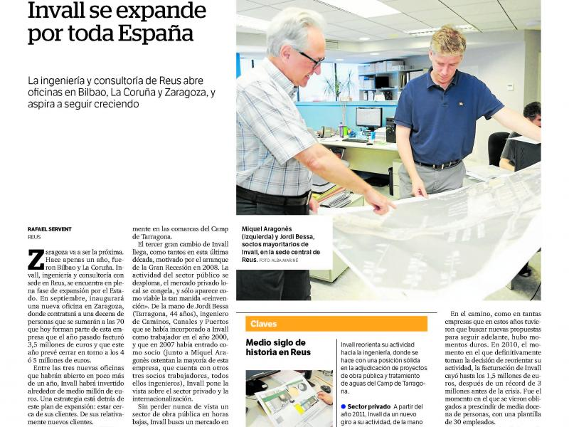 INVALL S'EXPANDEIX PER TOTA ESPANYA